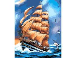 Картина раскраска по номерам на холсте