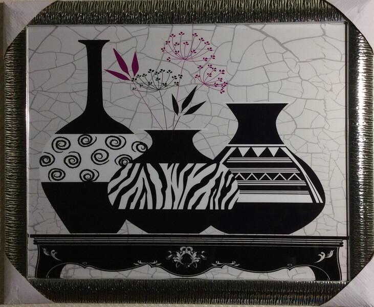 Чёрно-белые вазы 3