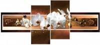 Белая орхидея с бусинками