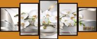 Белая орхидея с кубиками