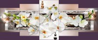 Белая орхидея с шарами