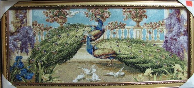 Павлины и голуби