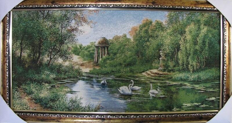 А белые лебеди на пруду