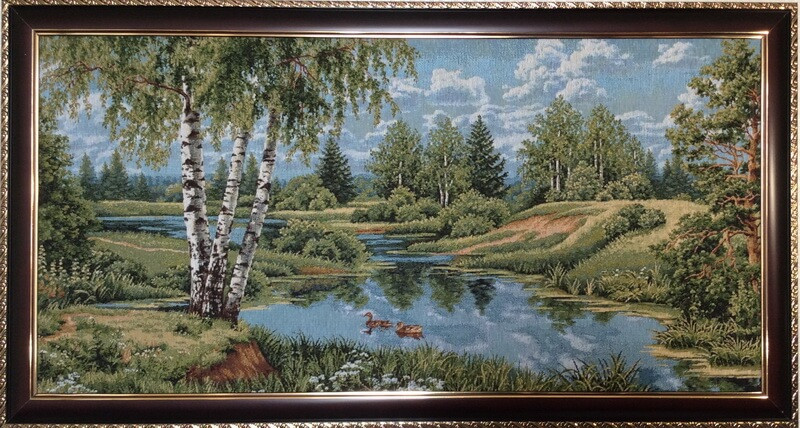 Пейзаж с уточками