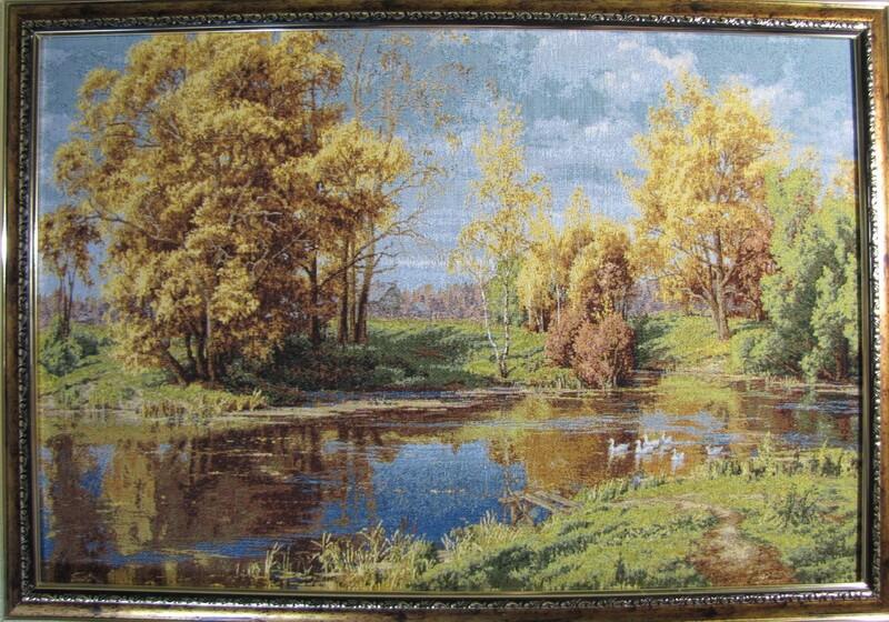 Сельский пруд осенью
